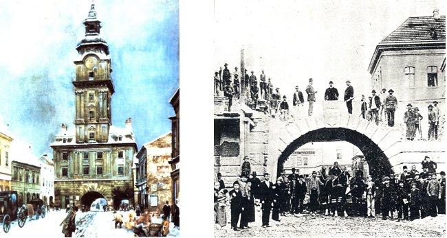 régi városháza tűztorony