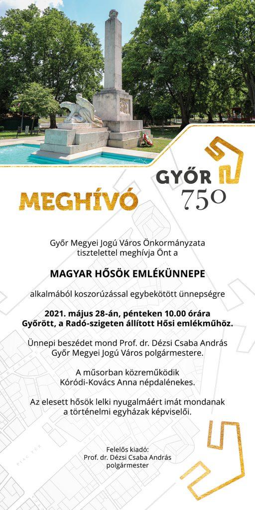 Győr meghívó hősök napja